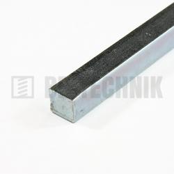 Oceľová tyč 10x10x1000 mm ZN štvorcová