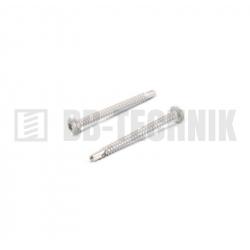DIN 7504N 3,9x9,5 ZN samovrtná TEXA skrutka do plechu s polguľatou hlavou na TORX T20