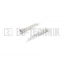 DIN 7504P 3,5x13 ZN samovrtná TEXA skrutka do plechu so zapustenou hlavou na TORX T15