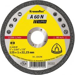 KLINGSPOR Kotúč rezný 125x1,0 mm na hliník A 60 N Supra