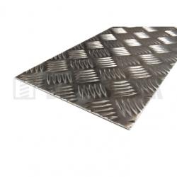 Hliníkový plech 2000x1000x2/3,5 mm protišmykový slzičkový neeloxovaný