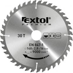 EXTOL Kotúč pílový 140x2,0x16mm s SK plátkami - 30z