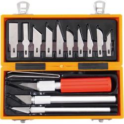 EXTOL Nože vyrezávacie vymeniteľné čepele 14-dielna sada