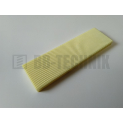 Podložka plastová dištančná 6 mm žltá