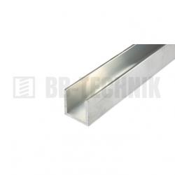Hliníkový profil U 25x25x2,0x2000 mm neeloxovaný