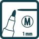 PICA Značkovač čierny tenký pero