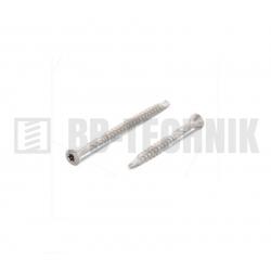Terasová skrutka 3,2x50/30 mm TX10 úzka hlava nerez