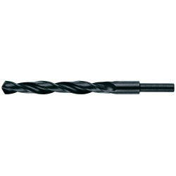 Vrták HSS 22 mm, rovná, zúžená stopka 13 mm do ocele, HELLER