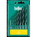 Vrtáky do dreva SADA 8-dielna 3-10 mm HELLER