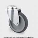 TENTE Koliesko prístrojové otočné, otvor, 75x25 mm, 75 kg
