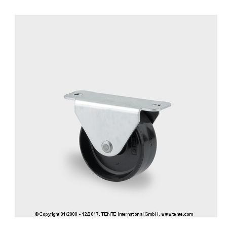 TENTE Koliesko prístrojové pevné, 45x18 mm, PA čierne, 40 kg