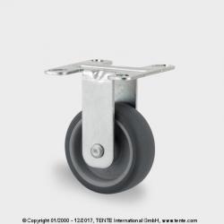 TENTE Koliesko prístrojové pevné, 50x19 mm, platnička, 50 kg
