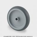 TENTE Koliesko prístrojové, 50x19 mm, otvor 8 mm, šedé, 50 kg