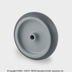 TENTE Koliesko prístrojové, 75x25 mm, otvor 8 mm, šedé, 75 kg