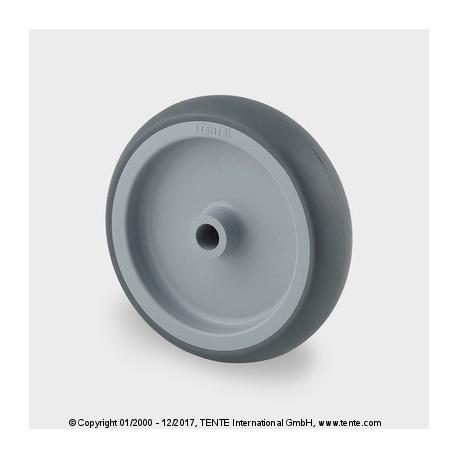 TENTE Koliesko prístrojové, 75x25 mm, otvor 8 mm, termoplast, šedé, 75 kg