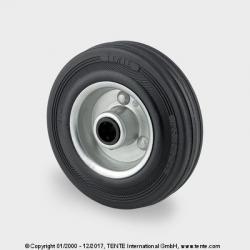 TENTE Koliesko transportné, 100x30 mm, otvor 12 mm, čierne, 70 kg
