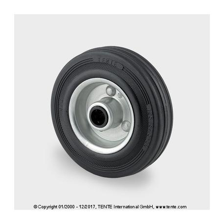 TENTE Koliesko transportné, 100x20 mm, otvor 12 mm, čierne, 70 kg