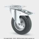 TENTE Koliesko transportné, 100x20 mm, otočné, platnička+brzda, 70 kg