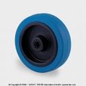 TENTE Koliesko transportné, 100x34 mm, otvor 12 mm, modrá guma, 160 kg