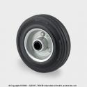 TENTE Koliesko transportné, 125x37 mm, otvor 12 mm, čierne, 100 kg