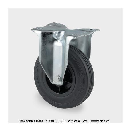 TENTE Koliesko transportné, 80x37 mm, pevné, platnička čierne, 70 kg