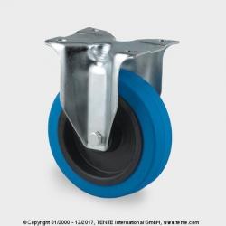 TENTE Koliesko transportné, 100x34 mm, pevné, platnička, modré, 160 kg