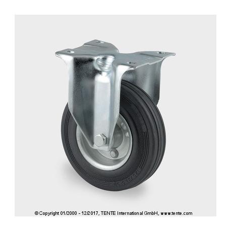 TENTE Koliesko transportné, 125x24 mm, pevné, platnička, čierne, 100 kg