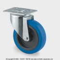 TENTE Koliesko transportné, 125x40 mm, otočné, platnička, modré,  250 kg