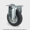 TENTE Koliesko transportné, 200x30 mm, pevné, platnička, čierne, 205 kg