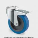 TENTE Koliesko transportné, 100x34 mm, modré, otočné+brzda, 150 kg