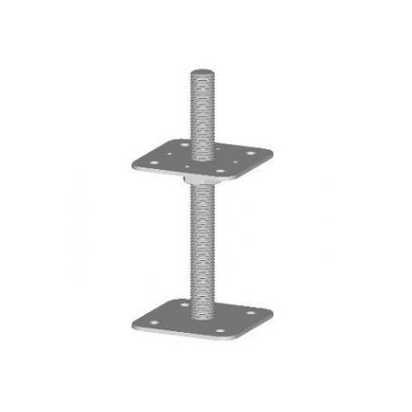 Pätka piliera 80x80 / M16x160 neprivarená platnička