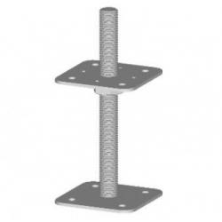 Pätka piliera 80x80 / M20x200 neprivarená platnička