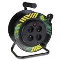 EMOS Kábel predlžovací 25m 4Z PVC bubon pevný stred