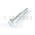 DIN 931 M 10x100 8.8 ZN skrutka so 6-hrannou hlavou s čiastočným závitom