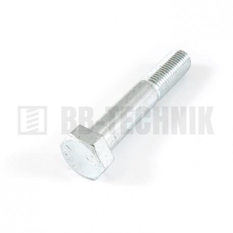 DIN 931 M 12x100 10.9 ZN skrutka so 6-hrannou hlavou s čiastočným závitom