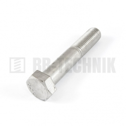 DIN 931 M 10x100 A2 nerezová skrutka so 6-hrannou hlavou s čiastočným závitom
