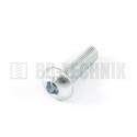 ISO 7380 M 10x30 10.9 ZN skrutka imbusová s polguľatou hlavou
