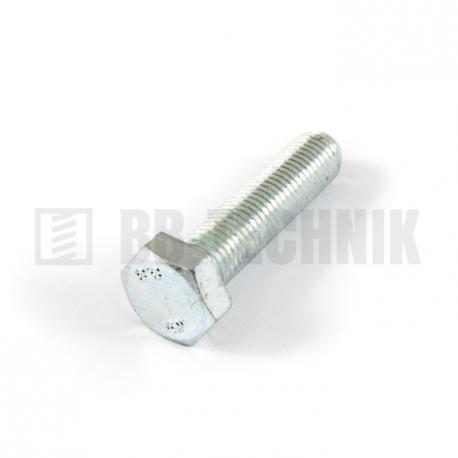 DIN 933 M 8x16 8.8 ZN skrutka so 6-hrannou hlavou s celým závitom