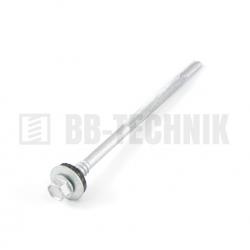 DIN 7504K 6,3x110 ZN TEXA skrutka s dlhým vrtákom do hr. 12mm a podložkou EPDM