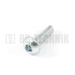ISO 7380 M 8x20 10.9 ZN skrutka imbusová s polguľatou hlavou