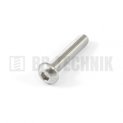 ISO 7380 M 6x12 A2 nerezová skrutka imbusová s polguľatou hlavou