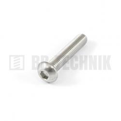 ISO 7380 M 6x30 A2 nerezová skrutka imbusová s polguľatou hlavou