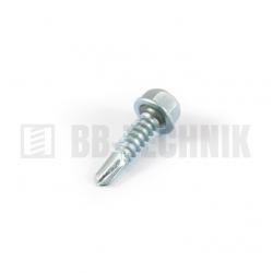 DIN 7504K 6,3x25 ZN samovrtná TEXA skrutka do plechu so 6-hrannou hlavou