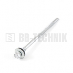 DIN 7504K 6,3x235 ZN TEXA skrutka s dlhým vrtákom do hr. 12mm a podložkou EPDM