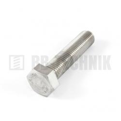 DIN 933 M 4x16 A2 nerezová skrutka so 6-hrannou hlavou s celým závitom