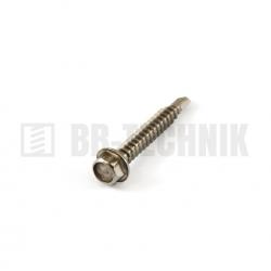 DIN 7504K 6,3x25 A2 nerezová samovrtná TEXA skrutka do plechu so 6-hrannou hlavou