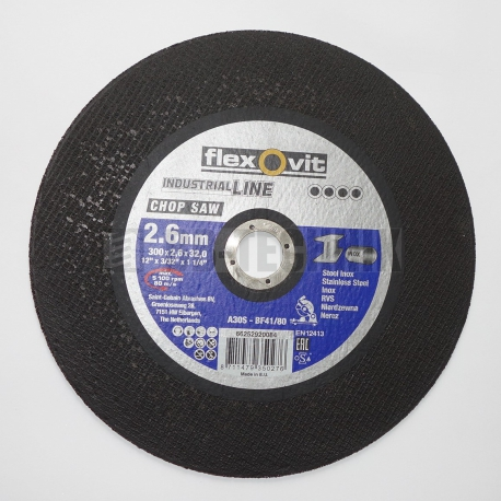 FLEXOVIT Kotúč rezný 300x2,6x32 oceľ