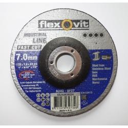 FLEXOVIT Kotúč brúsny 125x7,0 mm na oceľ
